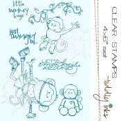 WRYN MONKEY AROUND Clear Stamp Set from Tiddly Inks