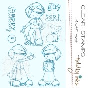 MY BOYS Clear Stamp Set from Tiddly Inks