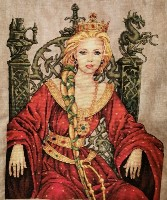 GUENIEVRE (GUINEVERE) Cross Stitch Pattern from Nimue Fee Main
