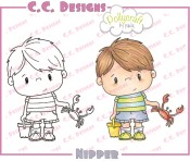 NIPPER Rubber Stamp from Pollycraft