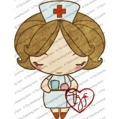 NURSE ANYA Rubber Stamp Anya & Ian Collection from The Greeting Farm