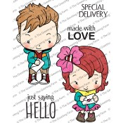 SPECIAL DELIVERY Rubber Stamp Set Oliver & Amelia Collection from The Greeting Farm