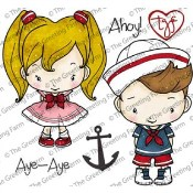 AHOY Rubber Stamp Set Oliver & Amelia Collection from The Greeting Farm