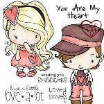 LOVEY DOVEY Rubber Stamp Set Oliver & Amelia Collection from The Greeting Farm