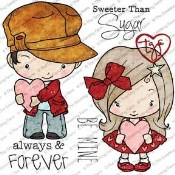 VALENTINE Rubber Stamp Set Oliver & Amelia Collection from The Greeting Farm