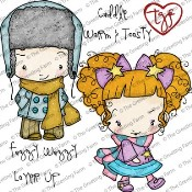 FUZZY WUZZY Rubber Stamp Set Oliver & Amelia Collection from The Greeting Farm