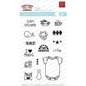 BUILD-A-ONESIE BOY Clear Stamp Set from The Greeting Farm