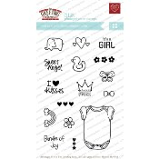 BUILD-A-ONESIE GIRL Clear Stamp Set from The Greeting Farm