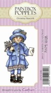WITH LOVE Rubber Stamp Paintbox Poppets Collection from Crafter's Companion
