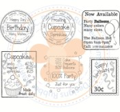 PARTY TIME LOGOS Stamp Set from C.C. Designs