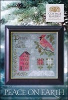 PEACE ON EARTH Cross Stitch Pattern from Cottage Garden Samplings