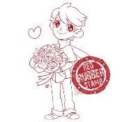 PHILLIP IN LOVE Rubber Stamp from Make It Crafty