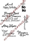 PIRATES AND SEAS Sentiments Rubber Stamp Set from Crafty Sentiments Designs