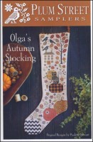 OLGA'S AUTUMN STOCKING Counted Cross Stitch Pattern from Plum Street Samplers