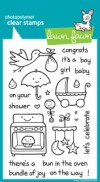 PLUS ONE Clear Stamp Set from Lawn Fawn