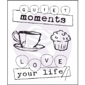 COFFEE BREAK 1 Clear Stamp Set Coffee Break Collection from Prima Marketing