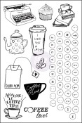 COFFEE BREAK Cling Rubber Stamp Set Coffee Break Collection from Prima Marketing