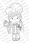 CHEF ELLIE Rubber Stamp from The Paper Nest Dolls