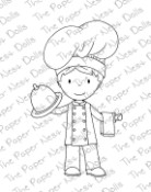 CHEF OWEN Rubber Stamp from The Paper Nest Dolls