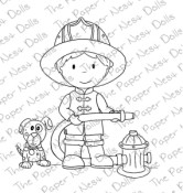 FIREMAN OWEN Rubber Stamp from The Paper Nest Dolls