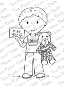 MISS YOU MILITARY BOY Rubber Stamp from The Paper Nest Dolls