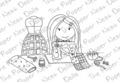 SEWING AVERY Rubber Stamp from The Paper Nest Dolls