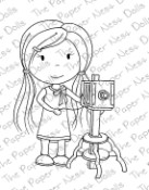 SHUTTERBUG ELLIE Rubber Stamp from The Paper Nest Dolls
