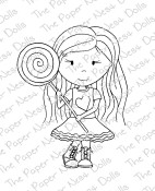 SWEET HEART ELLIE Rubber Stamp from The Paper Nest Dolls