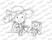 TEA TIME WITH TEDDY Rubber Stamp from The Paper Nest Dolls