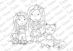 THE DOLLS Rubber Stamp from The Paper Nest Dolls