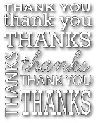 THANK YOU BACKGROUND Die from Poppystamps