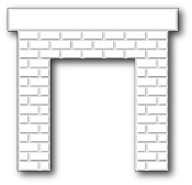 CLASSIC BRICK FIREPLACE Die from Poppystamps