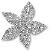 GRAND LUXE POINSETTIA OUTLINE Die from Poppystamps