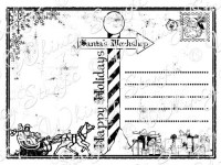 POSTCARD TO SANTA Rubber Stamp from the Whimsy Stamps Sentiments Collection