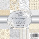 WEDDING BELLS PAPERS 6x6 Scrapbook Patterned Paper Pack from Wild Rose Studio