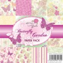BUTTERFLY GARDEN 6x6 Scrapbook Patterned Paper from Wild Rose Studio
