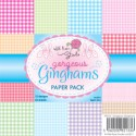 GORGEOUS GINGHAMS 6x6 Scrapbook Patterned Paper Pack from Wild Rose Studio