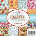 **PREORDER** FADED FLORALS 6x6 Scrapbook Patterned Paper Pack from Wild Rose Studio