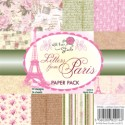 LETTERS FROM PARIS 6x6 Scrapbook Patterned Paper Pack from Wild Rose Studio