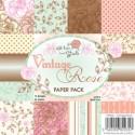 **REORDER** VINTAGE ROSE 6x6 Scrapbook Patterned Paper Pack from Wild Rose Studio
