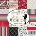 **Retired** MAN ABOUT TOWN PAPER PACK 6x6 Scrapbook Patterned Paper from Wild Rose Studio