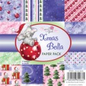 XMAS BELLA PAPER PACK 6x6 Scrapbook Patterned Paper from Wild Rose Studio