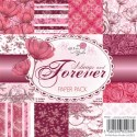 **REORDER** ALWAYS AND FOREVER 6x6 Scrapbook Patterned Paper Pack Love and Wedding Collection from Wild Rose Studio