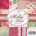 New! HOLLY LANE 6x6 Scrapbook Patterned Paper Pack from Wild Rose Studio