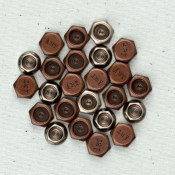 HEXAGONS Junkyard Findings Metal Embellishments from Prima Marketing