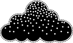 BIG SNOW CLOUD Cling Rubber Stamp from Poppystamps