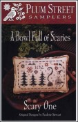 A Bowl Full of Scaries SCARY ONE Cross Stitch Pattern by Plum Street Samplers