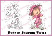 PUDDLE JUMPING TWILA Rubber Stamp Roberto's Rascals Collection from C.C. Designs