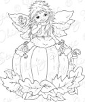 PUM KINNIE FAIRY Rubber Stamp Crissy Armstrong Collection from Whimsy Stamps