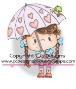 RAIN Rubber Stamp from Pollycraft